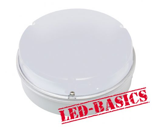 LED-Basics, Ceiling Light, Maximo 14W 2D LED Flush, White body, Opal Cover